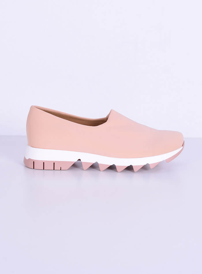 Sneakers Λύκρα,χρώμα βερίκοκο Smart Cronos for angelsfashion.gr