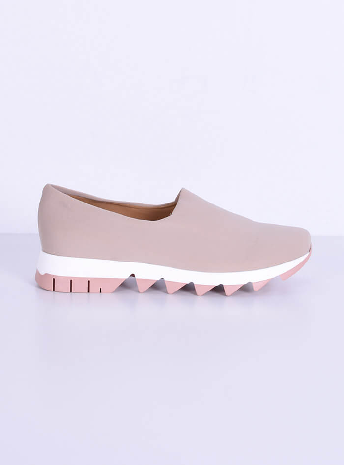 Sneakers Λύκρα μπεζ Smart Cronos for angelsfashion.gr