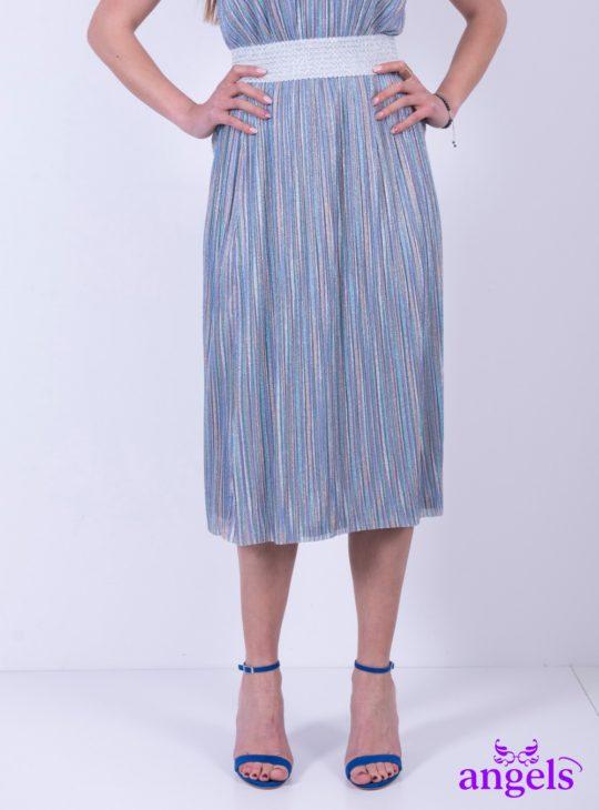 Ριγέ Πούχρωμη Φούστα || Φούστες||Γυναικεία ρούχα ,παπούτσια και αξεσουάρ Angels Fashion