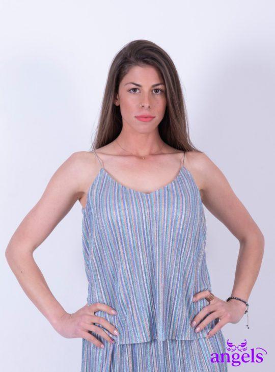 Ριγέ Πούχρωμη Μπλούζα   Γυναικείες Μπλούζες  Γυναικεία ρούχα ,παπούτσια και αξεσουάρ Angels Fashion