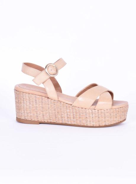 Nude Δερμάτινες Πλατφόρμες Fardoulis Shoes