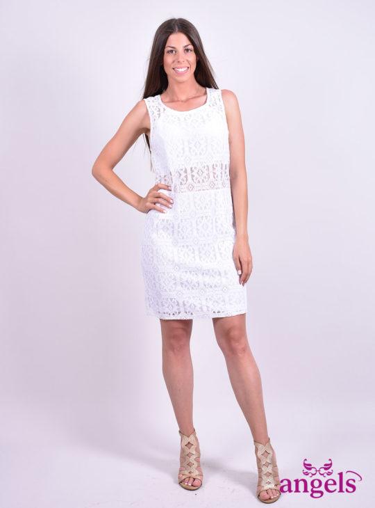 Άσπρο Δαντελένιο Φόρεμα  Φορέματα