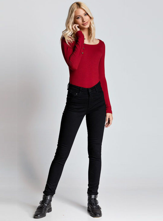 Edward Jeans Ψηλόμεσο Παντελόνι