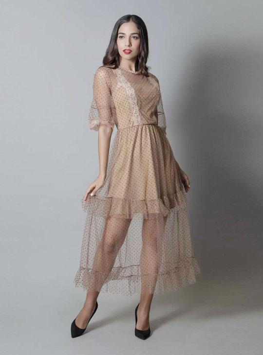 Πουά Φόρεμα Διαφάνεια