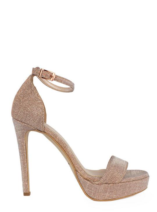 Δερμάτινα Πέδιλα Με Glitter Fardoulis Shoes  Πέδιλα Ψηλά  Πέδιλα Για Γάμο -Βάπτιση