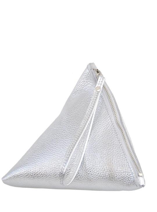 Δερμάτινη Ασημί τσάντα vice versa