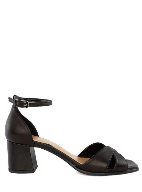 Μαύρα Δερμάτινα Πέδιλα Fardoulis Shoes 74125
