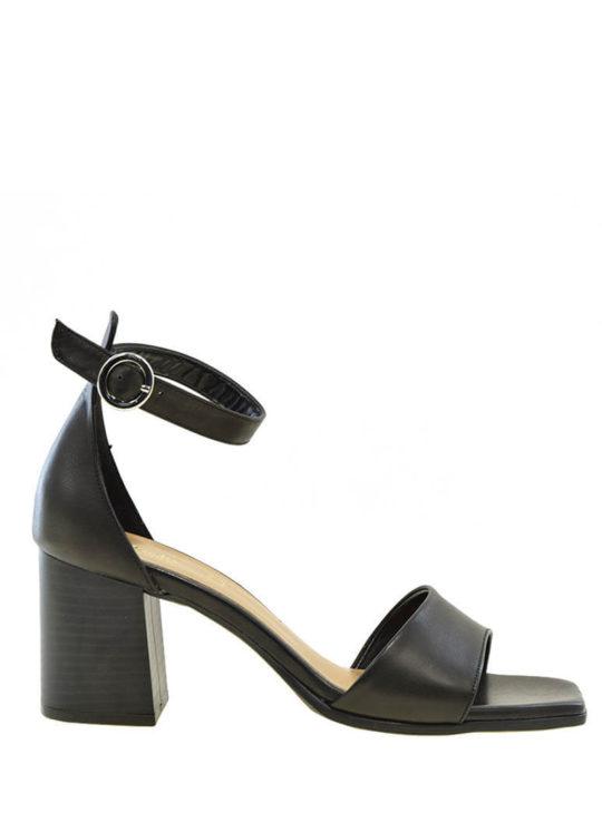 Μαύρα Δερμάτινα Πέδιλα Fardoulis Shoes 76230