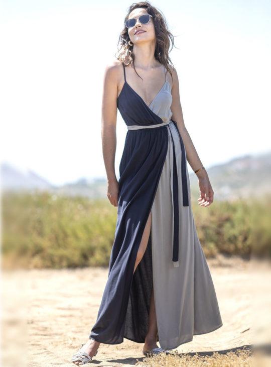 Μάξι Φόρεμα σκούρο μπλε-γκρι White22