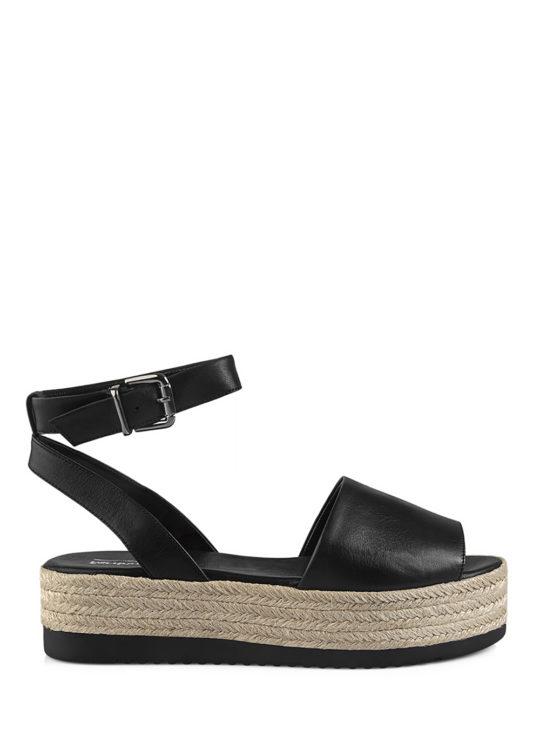 Δερμάτινες Μαύρες Πλατφόρμες Fardoulis Shoes 1789