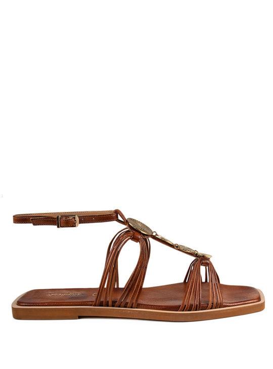 Δερμάτινα ταμπά σανδάλια fardoulis shoes