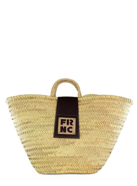 Ψάθινη Τσάντα FRNC Καφέ