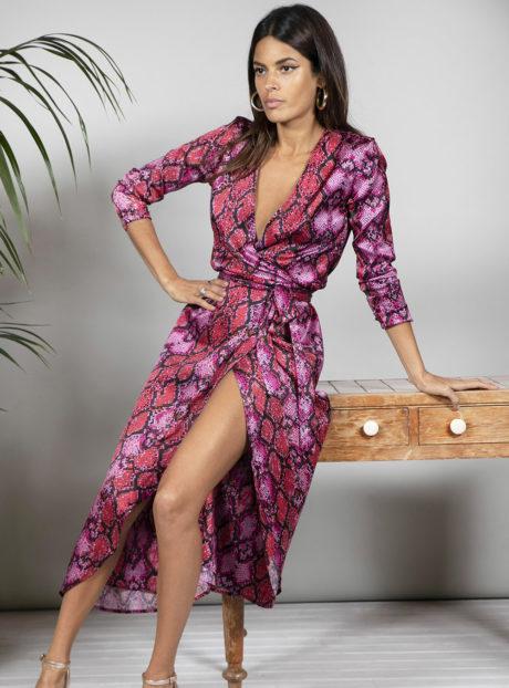 Σατέν Φόρεμα print Dancing Leopard||Νέες Αφίξεις 2020 Φθινόπωρο|| Γυναικεία Ρούχα