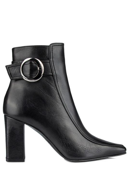 Μαύρα δερμάτινα μποτάκια Fardoulis Shoes 10202X