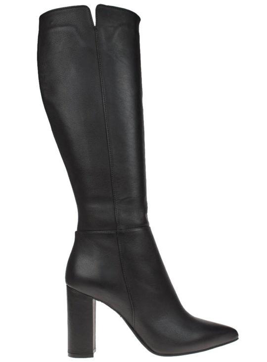Μαύρες Δερμάτινες Μπότες Ψηλοτάκουνες  Fardoulis Shoes  Γυναικείες Μπότες  Γυναικεία Μποτάκια