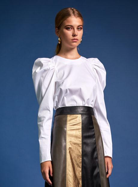 ΝΕΜΑ Μακρυμάνικη μπλούζα άσπρη  Γυναικείες Μπλούζες  Γυναικεία ρούχα