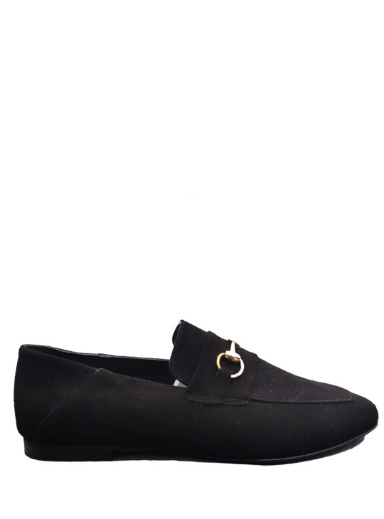 Δερμάτινα Loafers She Collection||Γυναικεία ίσια παπούτσια μαύρα