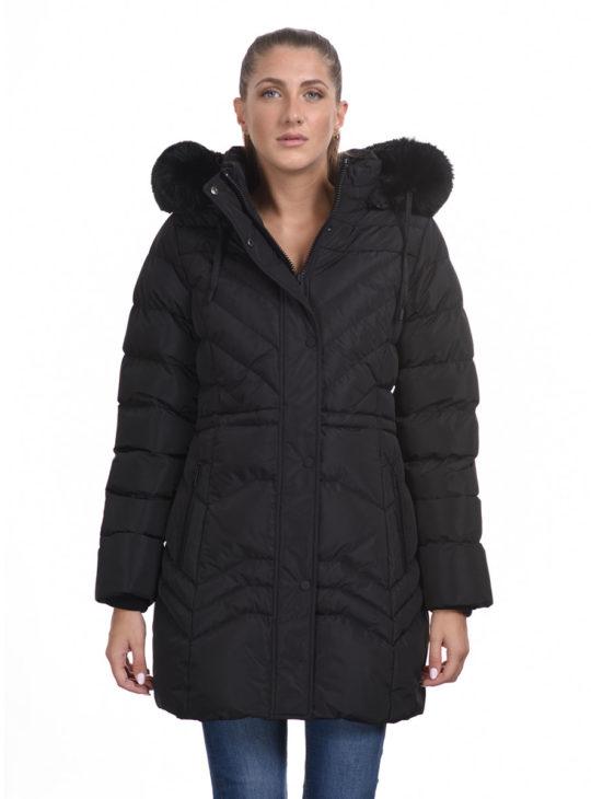 Μαύρο μπουφάν||Γυναικεία μπουφάν και παλτό