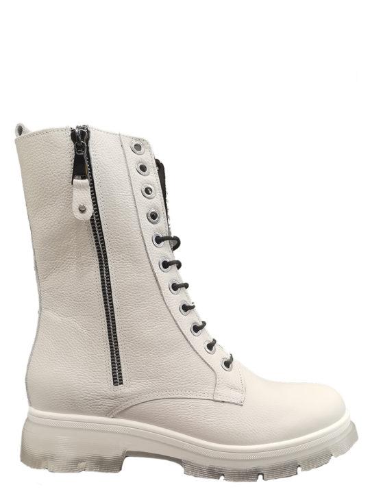 Λευκά δερμάτινα αρβυλάκια στο χρώμα του πάγου Fardoulis shoes