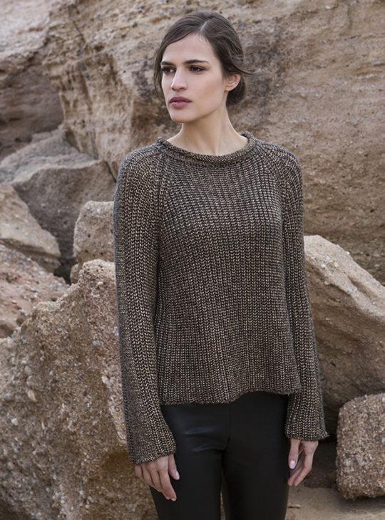 Πλέκτη μπλούζα AGGEl ΧρυσήΓυναικείες Μπλούζες||Γυναικεία ρούχα