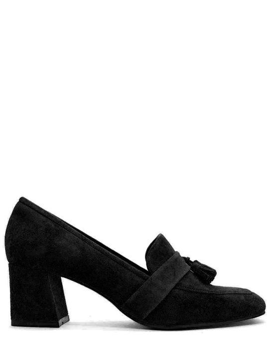 Fardoulis Shoes 2904 Μαύρες Δερμάτινες χαμηλές γόβες