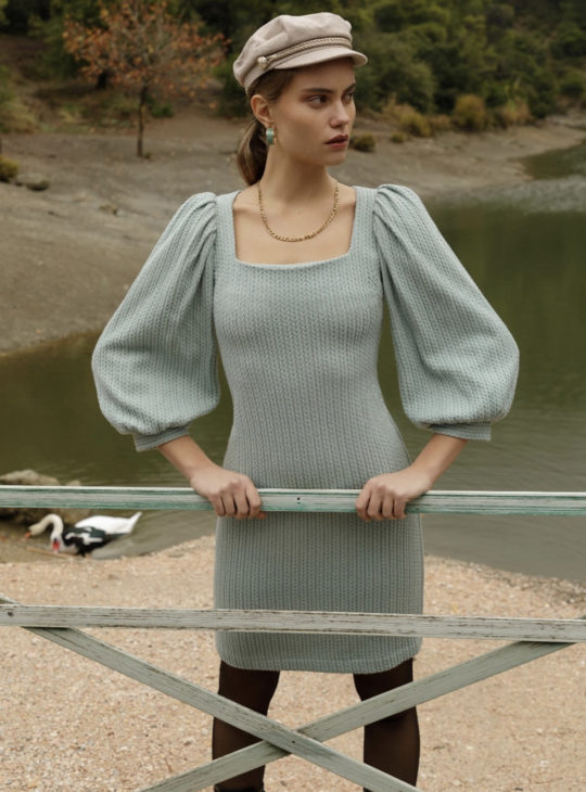 NEMA Φόρεμα με φουσκωτά μανίκια||Φορέματα