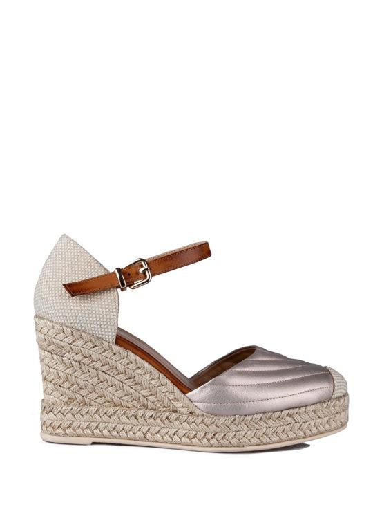 Εσπαντρίγιες Fardoulis Shoes 602-15 sστο χρώμα της πλατίνας
