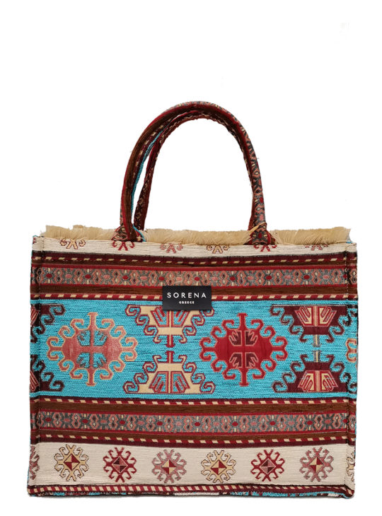 Γυναικεία χειροποίητη τσάντα SORENA HERMINA||Resort Bag