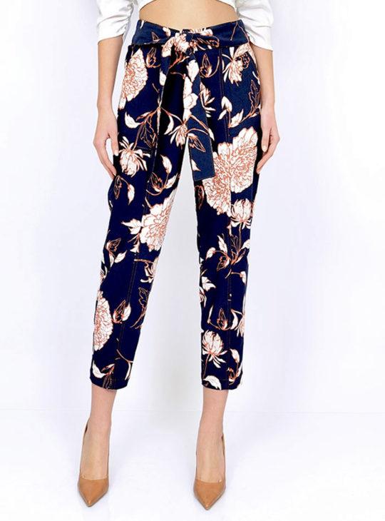 WE COSS Παντελόνι Φλοράλ με Ζώνη||Γυναικεία Παντελόνια Ανοιξιάτικα\καλοκαιρινά